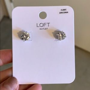 CZ Loft Stud Earrings